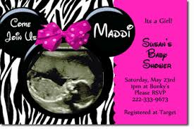 baby minnie mouse baby shower baby shower invitations design your own baby shower cards do it