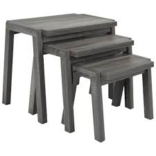 3 piece nesting tables brassex contemporary 3 piece nesting table set grey nesting