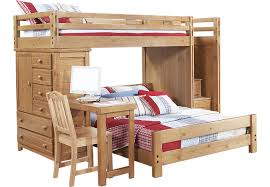 creekside taffy twin full step bunk bed with desk and chest bunk