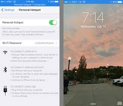 how to set up and use personal hotspot on iphone