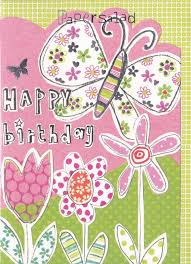 butterfly and flowers birthday card karenza paperie