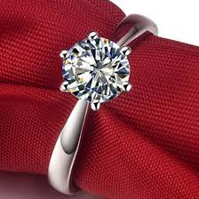 wedding ring test 0 6 ct brilliant test positive moissanite solid 585 gold