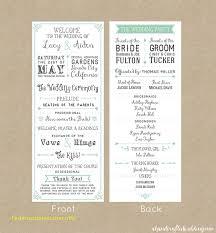 simple wedding programs templates stunning free wedding program templates free template 2018free