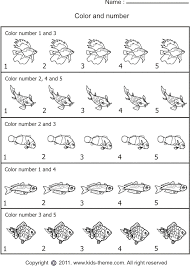 coloring number worksheets