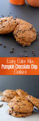 Halloween Cake Mix Cookies by Easy Cake Mix Pumpkin Chocolate Chip Cookies