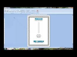 membuat novel di ms word cara membuat cover makalah di microsoft office word 2007 youtube