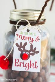 reindeer christmas mason jar gift idea