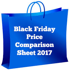 black friday price comparison sheet 2017 twin cities frugal mom