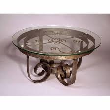 Coffee Table Pedestal Round Coffee Table Pedestal Base Coffee Table Wrought Iron Round