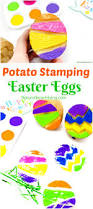 the best easter egg potato stamp ideas for kids natural beach living