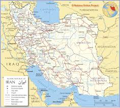 United International Route Map by Political Map Of Iran Nations Online Project