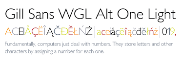 gill sans light font gill sans wgl alt one light fonts com