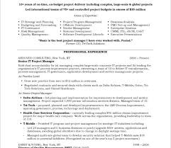 Resume Template Project Manager Download Resume Template For Project Manager