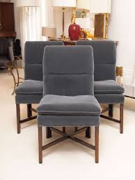six vintage baker dining chairs with velvet upholstery at 1stdibs