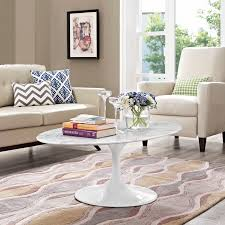 oval shaped coffee table lippa 48 oval shaped artificial marble coffee table contemporary