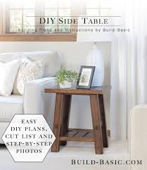 coffee table building plans build a diy side table building plans by buildbasic www build