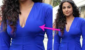 vidya balan plunging neckline cleavage youtube
