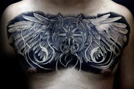 cool chest with feather designs photos and ideas
