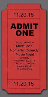 Christmas Party Ticket Movie Party Invitation Pertamini Co
