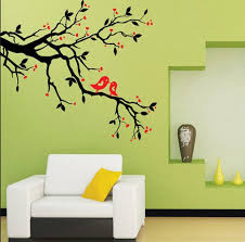 direct selling home decor direct selling classic love birds standing on tree wall stickers
