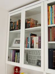 Glass Bookcase With Doors 38 Billy Bookcases With Doors Glass Doors Bookcase Foter