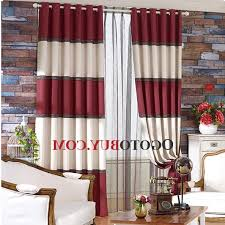 Tan And White Horizontal Striped Curtains Amazing Great Red And Tan Curtains And Red Tan And Brown Shower