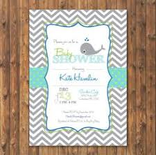 whale baby shower invitations raffle baby shower whale nautical cards instant