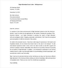 flight attendant cover letter sample job and resume template