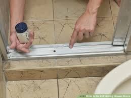 How To Fix Shower Door How To Fix Stiff Sliding Shower Doors 3 Steps With Pictures