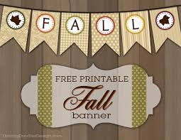 printable fall and leaf banner darling doodles