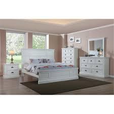 White Timber Queen Bedroom Suite Maynard Queen Tallboy Suite Hardwood White W04 Bedroom Suite