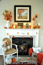 fall fireplace mantel autumn decorating ideas for everyday mantels