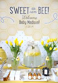 bumble bee baby shower theme girl baby shower themes ideas squared