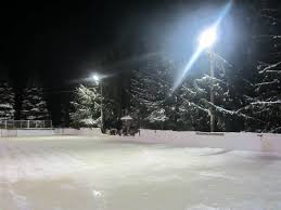 here is our private outdoor rink in michigan this is my paradise