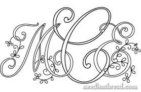 create monogram initials manipulating monograms to create embroidery designs