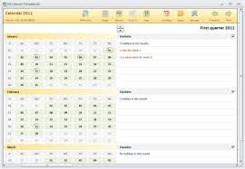 Excel 2010 Calendar Template Year Calendar Template For The 2011 Calendar Contest At