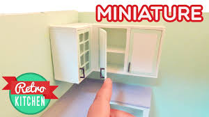 upper kitchen cabinets retro miniature kitchen room box 1 12