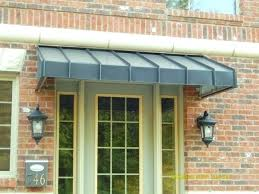 aaw40 front porch awning using extended railing posts as support