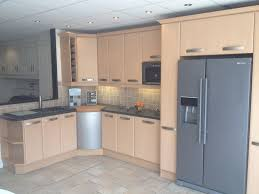Kitchen Cabinet Refrigerator Kitchen Big Grey Refrigerator In Kitchen Style Also Brown Wood