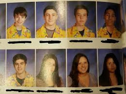 classmates college yearbooks high schoolers wear dozens of hawaiian shirts in yearbook photos