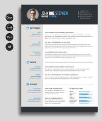 Best New Font For Resume by Free Cv Template Master Bundles