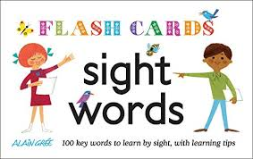 words cards sight words flash cards 100 key words to learn by sight with