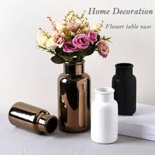 Copper Flower Vase Matte Black Ceramic Vase Matte Black Ceramic Vase Suppliers And