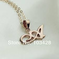 Rose Gold Name Necklace Freeshipping Personalized Madonna Style Name Necklace Custom Rose