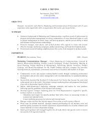 Marketing Resumes Sample by Objectives For Marketing Resume Haadyaooverbayresort Com