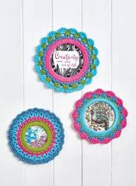 Crochet Home Decor Patterns Free Handcrafted Vintage 12 Crafts Of Christmas Picture Frame