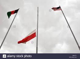 Flags Today At Half Mast Polish Flag Flies At Half Staff At Forward Operating Base Ghazni