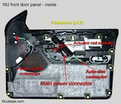 jeep grand cherokee wj door panel removal