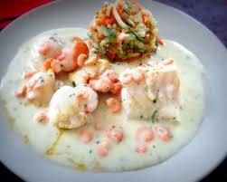 cuisiner poisson blanc recette jacques et poisson blanc sauce crevettes de