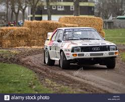 audi rally rally stage at race retro audi quattro stock photo royalty free